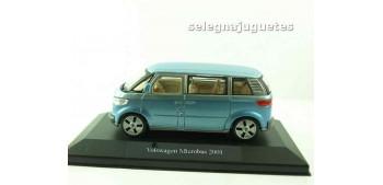 Volkswagen Microbus 2001 azul (showcase) Furgoneta escala 1/43 Cararama
