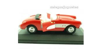 coche miniatura Chevrolet Corvette 1957 (vitrina) escala 1/36 -