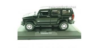 Hummer H3 negro (vitrina) escala 1/34 a 1/39 Welly Coche metal miniatura