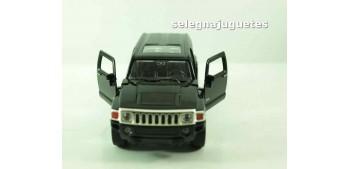 Hummer H3 negro escala 1/34 a 1/39 Welly Coche metal miniatura