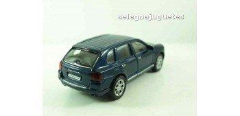 Porsche Cayenne Turbo azul escala 1/34 a 1/39 Welly Coche metal miniatura