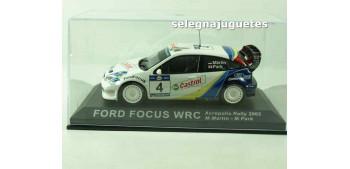 miniature car Ford Focus WRC Acropolis 2003 (vitrina) M. Martin