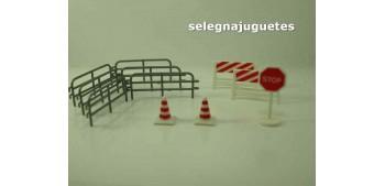 Lote accesorios decoración diorama escala 1/43 (Artículo sin caja)
