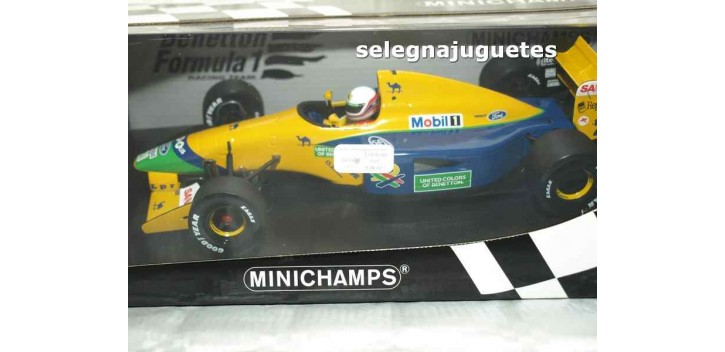 Benetton Ford B191 M. Brundle escala 1/18 Minichamps coche metal miniatura Minichamps
