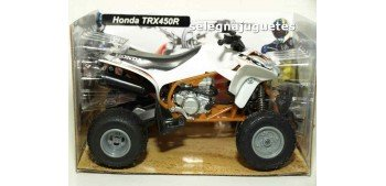 Honda TRX 450 R Blanco Quad 1/12 New ray