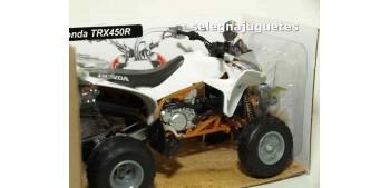 moto miniatura Honda TRX 450 R Blanco Quad 1/12 New ray