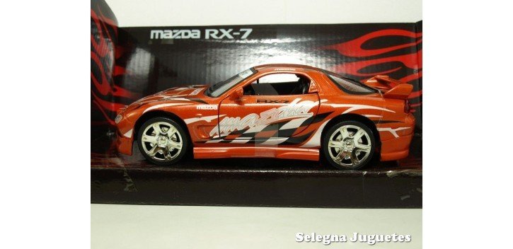 Mazda RX-7 rojo 1/24 Motor max coche metal miniatura Motor Max