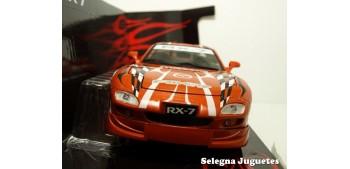 coche miniatura Mazda RX-7 rojo 1/24 Motor max coche metal