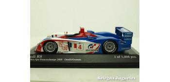 miniature car AUDI R8 1000KM SPA 2005 ORTELLI 1/43 MINICHAMPS