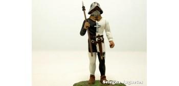 soldado plomo Vougier Suizo Siglo XIV Soldado Plomo Altura 54