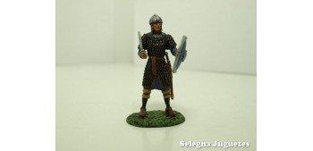 Guerrero Carolingio Siglo VIII soldado plomo escala 54 mm Altaya