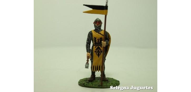 Soldado Aleman Siglo XIV soldado plomo escala 54 mm Altaya