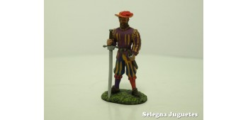 lead figure Lansquenete Siglo XV soldado plomo escala 54 mm