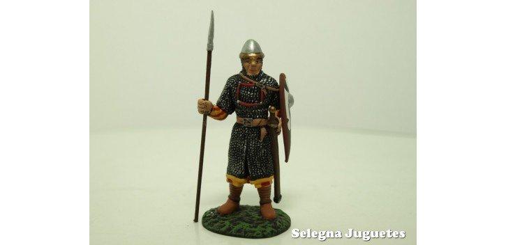 Guerrero Normando Siglo XI soldado plomo escala 54 mm Altaya