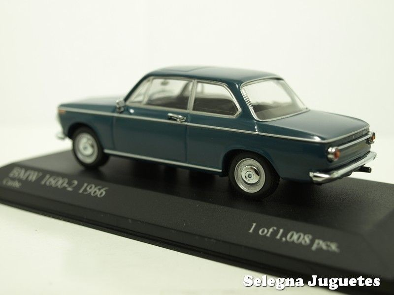 Bmw 1600-2 1966 scale 1:43 Minichamps miniature car - Selegnajuguetes