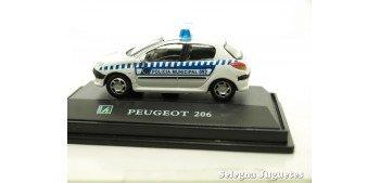 Peugeot 206 Policía Municipal escala 1/72 Cararama coche metal miniatura