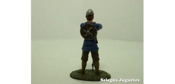 Guerrero Sajon Siglo IX soldado plomo escala 54 mm Altaya