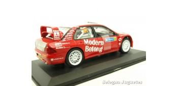 Mitsubishi Lancer WRC Carlsson Suecia escala 1/32 Saico coche miniatura metal Saico