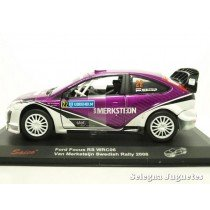 <p>MODELO: <strong>Ford Focus RS WRC06 Van Merksteijn Swedish 2008</strong></p> <p>ESCALA - SCALE - ECHELLE - MABSTAB: <strong>1/32 - 1:32</strong></p> <p>MARCA: <strong>SAICO</strong></p>