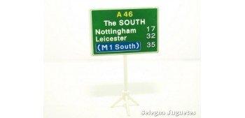 Direcciones The South señal trafico escala 1/43 cararama coche