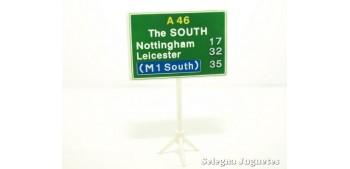 Direcciones The South señal trafico escala 1/43 cararama coche metal miniatura