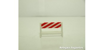 Valla precaución señal trafico escala 1/43 cararama coche metal miniatura
