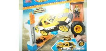 coche miniatura Mega Block amarillo escala 1/64 Hot wheels
