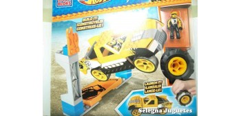 miniature car Mega Bloks amarillo escala 1/64 Hot wheels coche