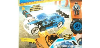 miniature car Mega Bloks azul escala 1/64 Hot wheels coche
