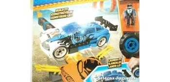 Mega Bloks azul escala 1/64 Hot wheels coche miniatura escala
