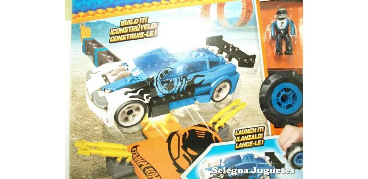 Mega Block azul escala 1/64 Hot wheels coche miniatura escala