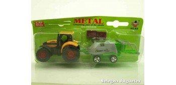 Tractor con procesadora escala 1/87 artículo plástico