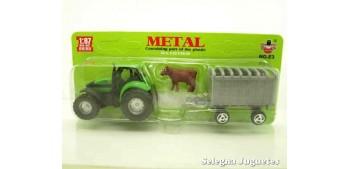 Tractor con vaca escala 1/87 artículo plástico