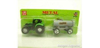 Tractor con deposito escala 1/87 artículo plástico