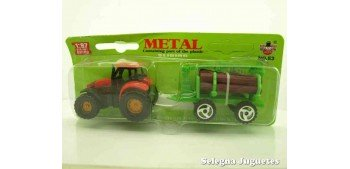 Tractor con troncos escala 1/87 artículo plástico
