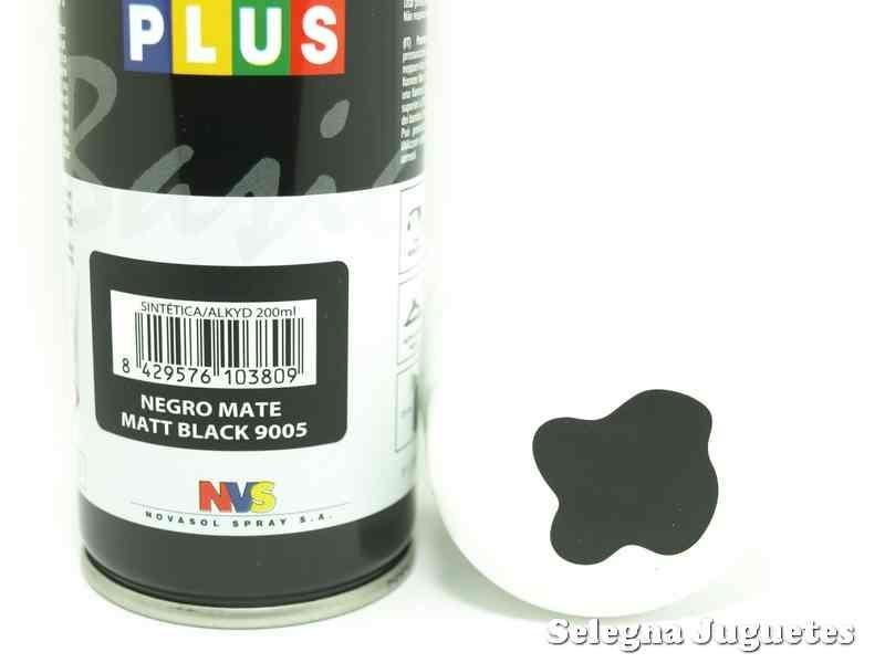 Negro mate pinty plus pintura sintetica bote spray for Bote de pintura precio