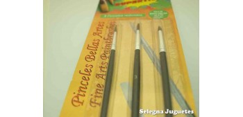 Set de tres pinceles redondos 1 - 3 - 5 de Pelo de Marta Cibelina