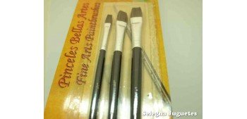 Set three Flat brush 1/4 - 3/8/ - 1/2 High quality ox hair