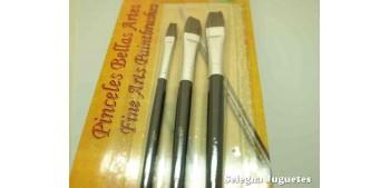 Set three Flat brush 1/4 - 3/8/ - 1/2 High quality ox hair