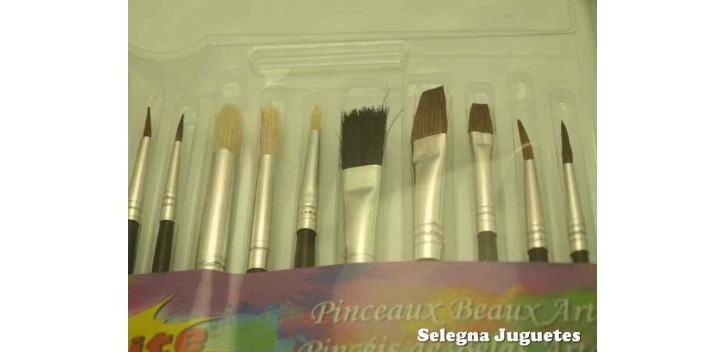 Set of fifteen assorted natural hair brushes