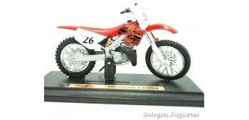 Honda CR250R escala 1/18 Maisto moto miniatura