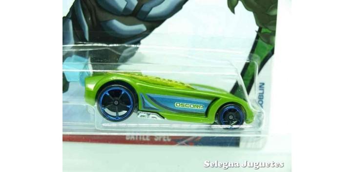 coche miniatura Battle Spec Green Goblin escala 1/64 Hotwheels