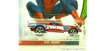 coche miniatura Blvd. Bruiser Spiderman escala 1/64 Hotwheels