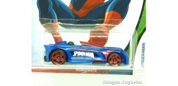 miniature car Monoposto Spiderman scale 1:64 Hot wheels