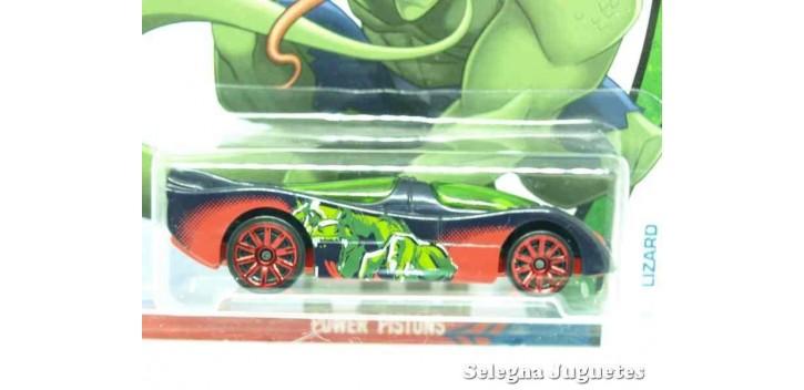 Power Pistons Lizard escala 1/64 Hotwheels coche miniatura metal