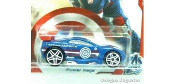Power Rage Capitan America escala 1/64 Hotwheels coche miniatura metal