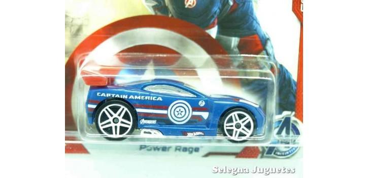 coche miniatura Power Rage Capitan America escala 1/64