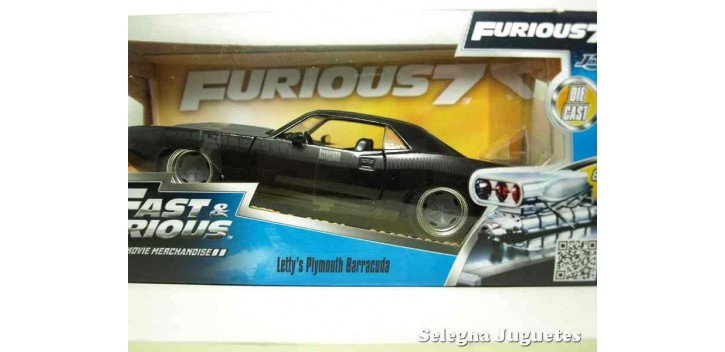 Letty's Plymouth Barracuda Fast & Furious escala 1/32 Jada coche miniatura