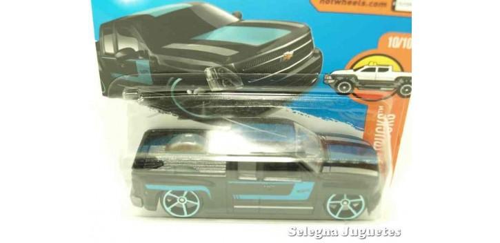 coche miniatura Chevy Silverado escala 1/64 Hot wheels coche