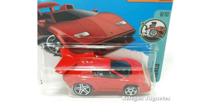 coche miniatura Lamborghini Countach escala 1/64 Hot wheels
